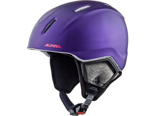 Alpina Carat XT Casco de bicicleta Niños, royal-purple matt